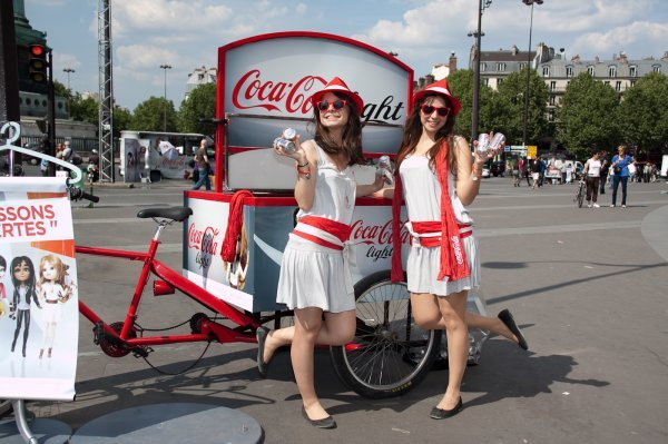 animatrices lors de la tournée nationale coca-cola light