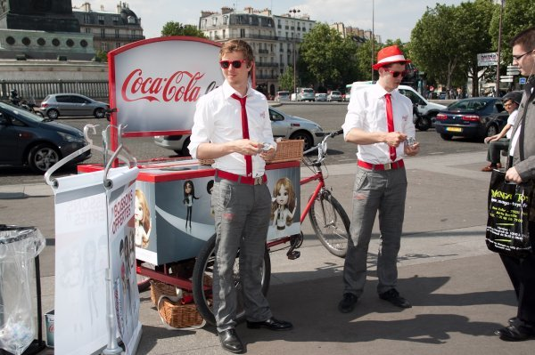 animateurs lors de la tournée nationale coca-cola light