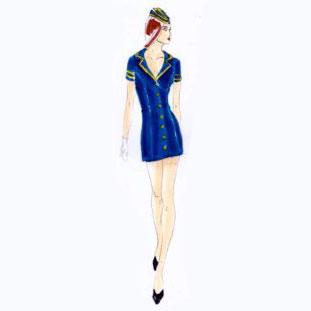 robe hôtesse de l'air
