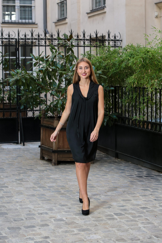 robe fleur noire1