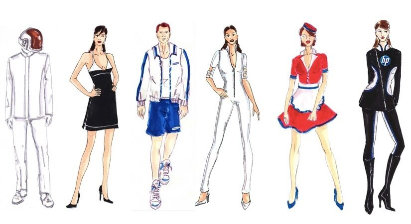 dessins tenues hôtesse événementielle